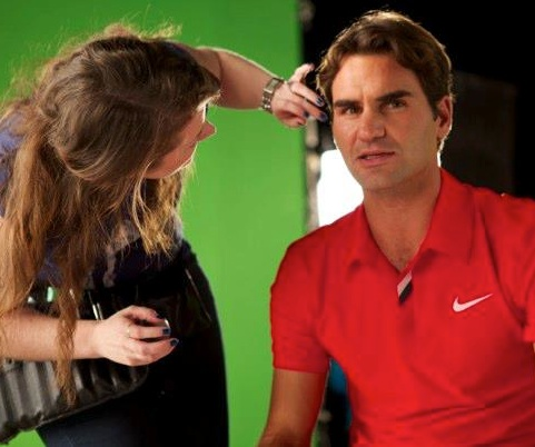Rodger Federer Gillette - Michelle Waldron makeup artist Dubai