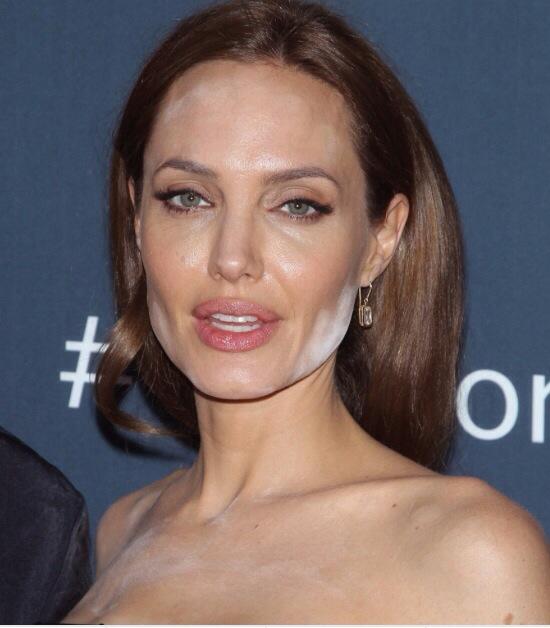 Angelina Jolie make-up disaster!
